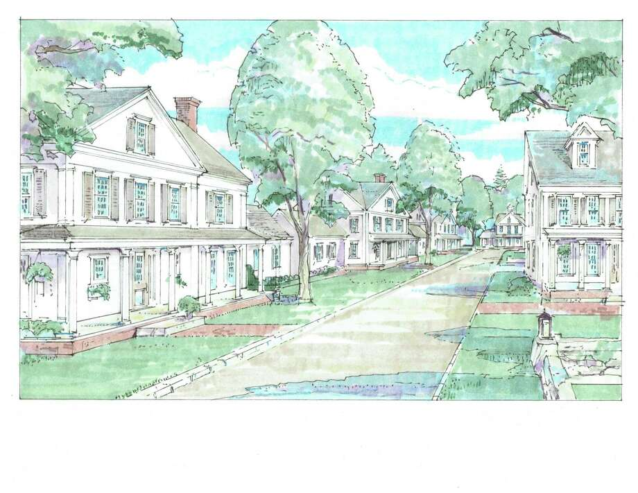 An architectural rendering of the proposed residential redevelopment of the 1.7 acre parcel of land in New Canaan, Conn., where the Roger Sherman Inn is located. Photo: Contributed / Hearst Connecticut Media / New Canaan News