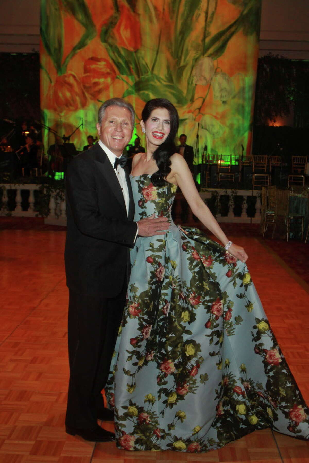"""(For the Chronicle/Gary Fountain, February 16, 2013) Chairs Kelli Cohen Fein and Martin Fein at the """"Rite of Spring,"""" Houston Ballet Ball."""