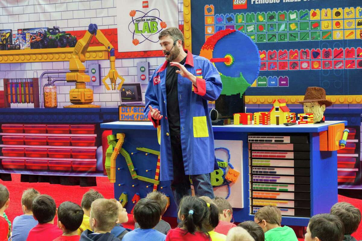 The LEGO® KidsFest takes place at the Connecticut Convention Center in Hartford, Friday, Dec. 2, through Sunday, Dec. 4. Master Model Builder Chris Steininger is seen here, addressing attendees at the LEGO® KidsFest's Master Builder Lab.