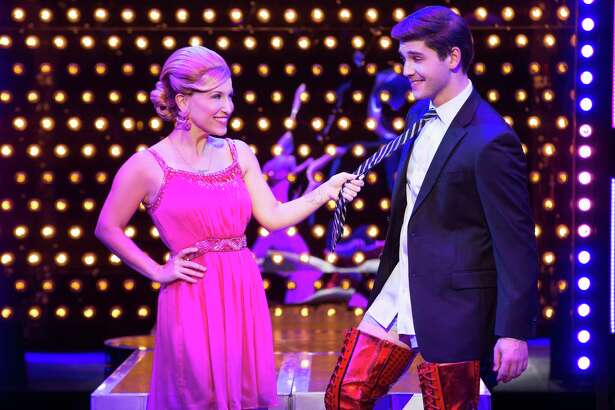 "Adam Kaplan, a Westport native, is one of the stars in the national touring company of ""Kinky Boots,"" which will be on stage at the Waterbury Palace Theater Dec. 6-11."