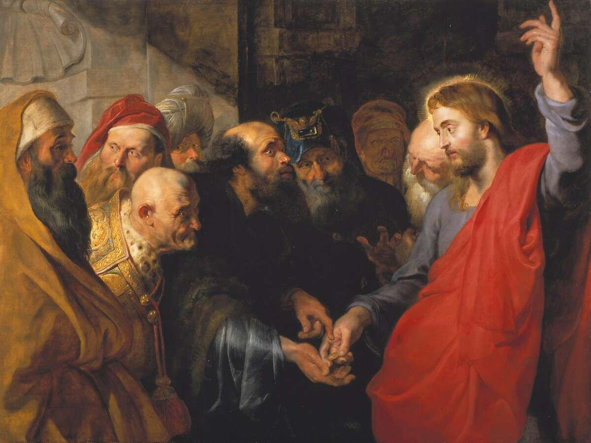 Peter Paul Rubens, �The Tribute Money� (c. 1612), oil on wood panel