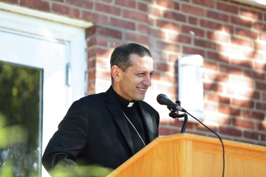 The Most Rev. Frank J. Caggiano, bishop of the Diocese of Bridgeport, in Greenwich last month. Photo: Danielle Robinson Calloway / For Hearst Connecticut Media / Connecticut Post Freelance