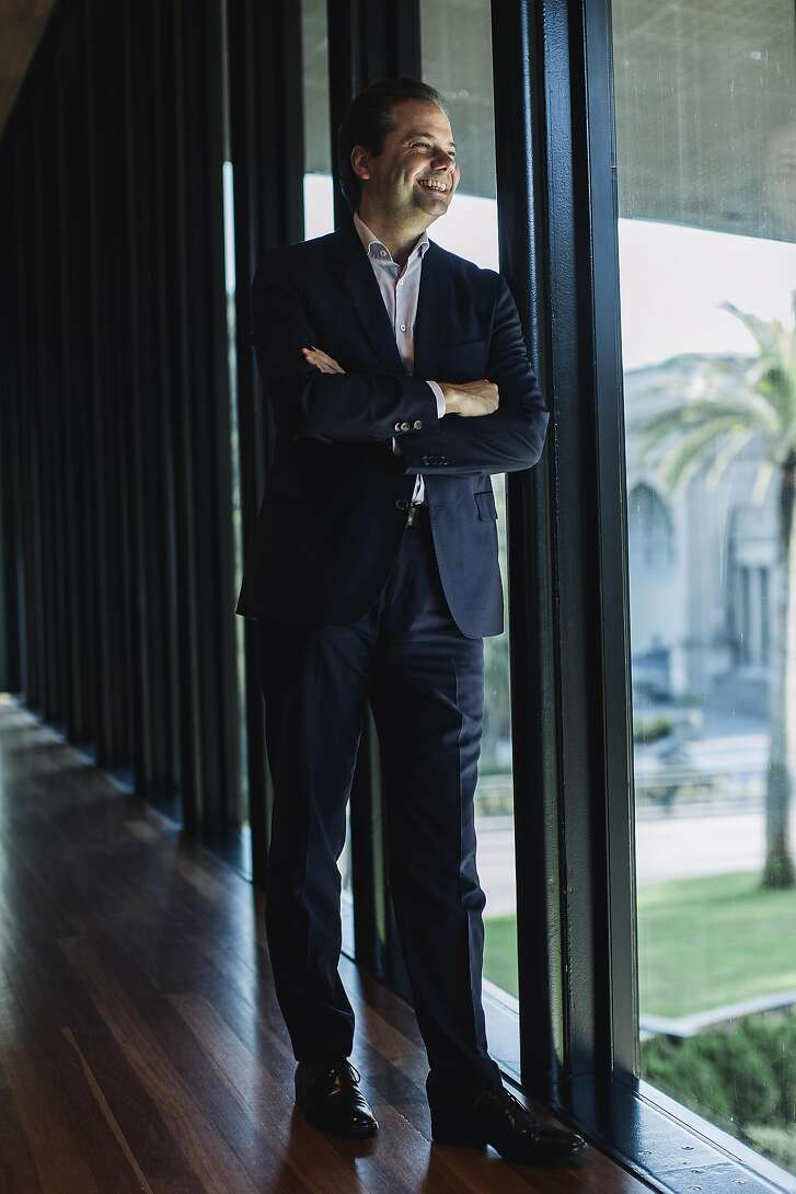Max Hollein, director of Fine Arts Museum of San Francisco poses for a portrait inside De Young Museum in San Francsico, Calif. on Wednesday, Nov. 23, 2016.