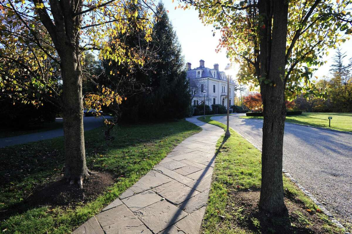 The Tomes-Higgins House, an historic early Victorian wooden villa at 216 E. Putnam Ave., in Greenwich, Conn., Tuesday, Nov. 22, 2016. The house was built in 1861 by Calvert Vaux, a foremost Victorian architect of his day for Francis Tomes. The home belongs to Christ Church. The main floor of the house is used for Church festivities and other activities. There are apartments on the upper floors for church staff.
