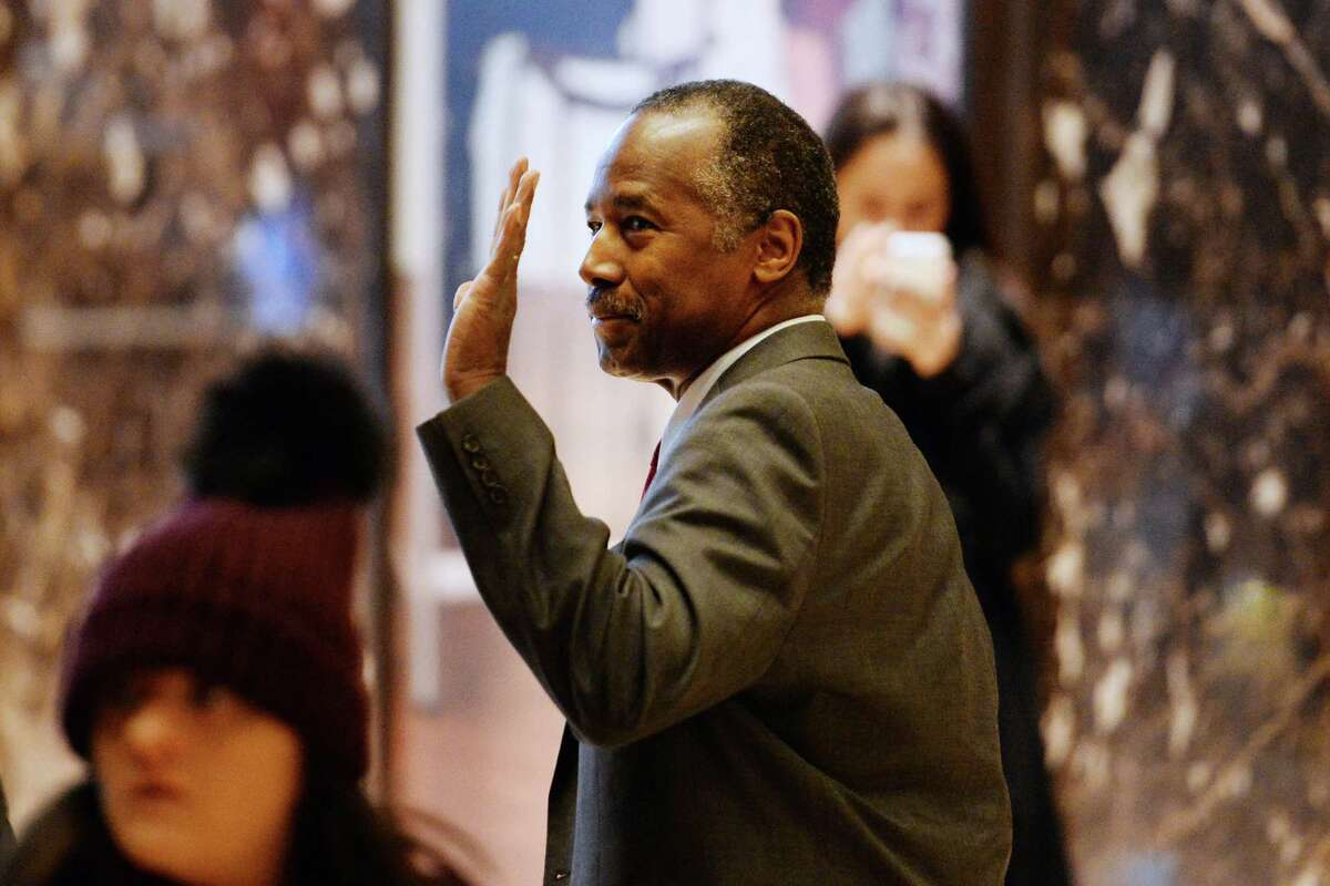Ben Carson, who is expected to be named secretary of housing and urban development, visited President-elect Donald Trump on Tuesday.