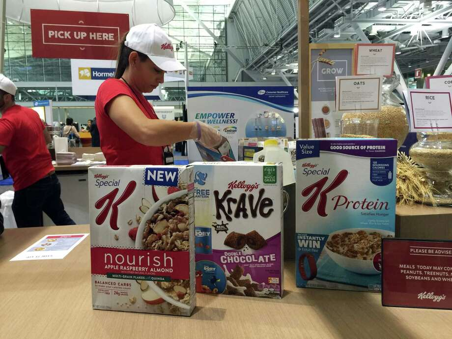 """Kellogg promotes the health benefits of its products this year at a dietitians' conference in Boston. On its website, the company touted a """"breakfast council"""" of """"independent experts"""" dedicated to guiding its nutritional efforts. Photo: Candice Choi, STF / Copyright 2016 The Associated Press. All rights reserved."""