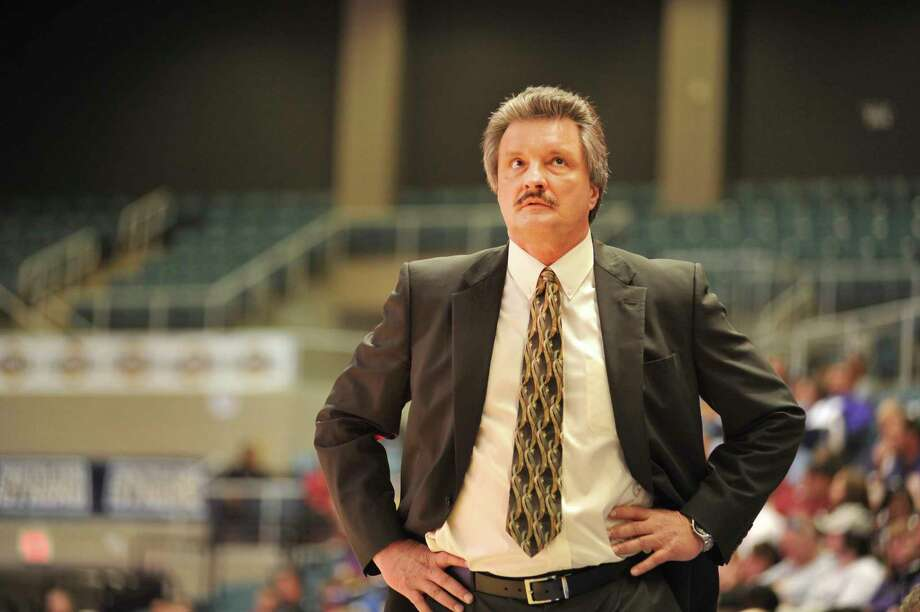 New Texas State coach Danny Kaspar directed Stephen F. Austin to a 27-5 record in 2012-13, the best college record in the state. He becomes the Bobcats' coach after guiding the Lumberjacks to a 246-141 record the past 13 seasons. This photo is from the 2012-13 season. Photo: Courtesy Photo, SFA Athletics / Cody Derouen