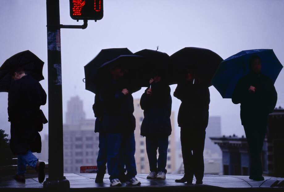 The Bay Area will be in store for a rainy weekend.(Mitchell Funk / Getty Images)