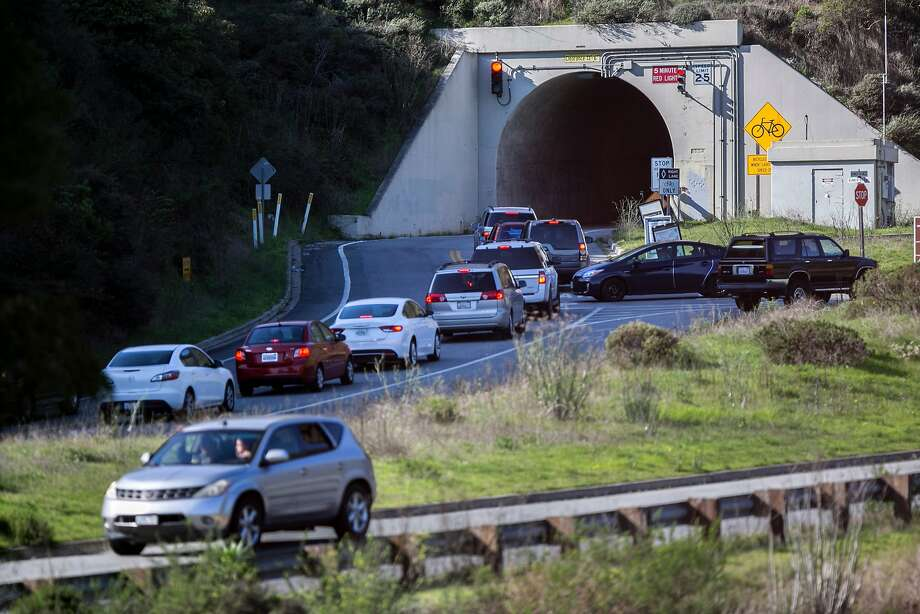 The single lane Baker-Barry Tunnel, a primary route to the Marin Headlands, will close for a $5.2 million improvement project. Photo: Santiago Mejia, The Chronicle