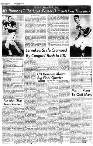 UH Wins Game of Century (100-6) - Houston Chronicle