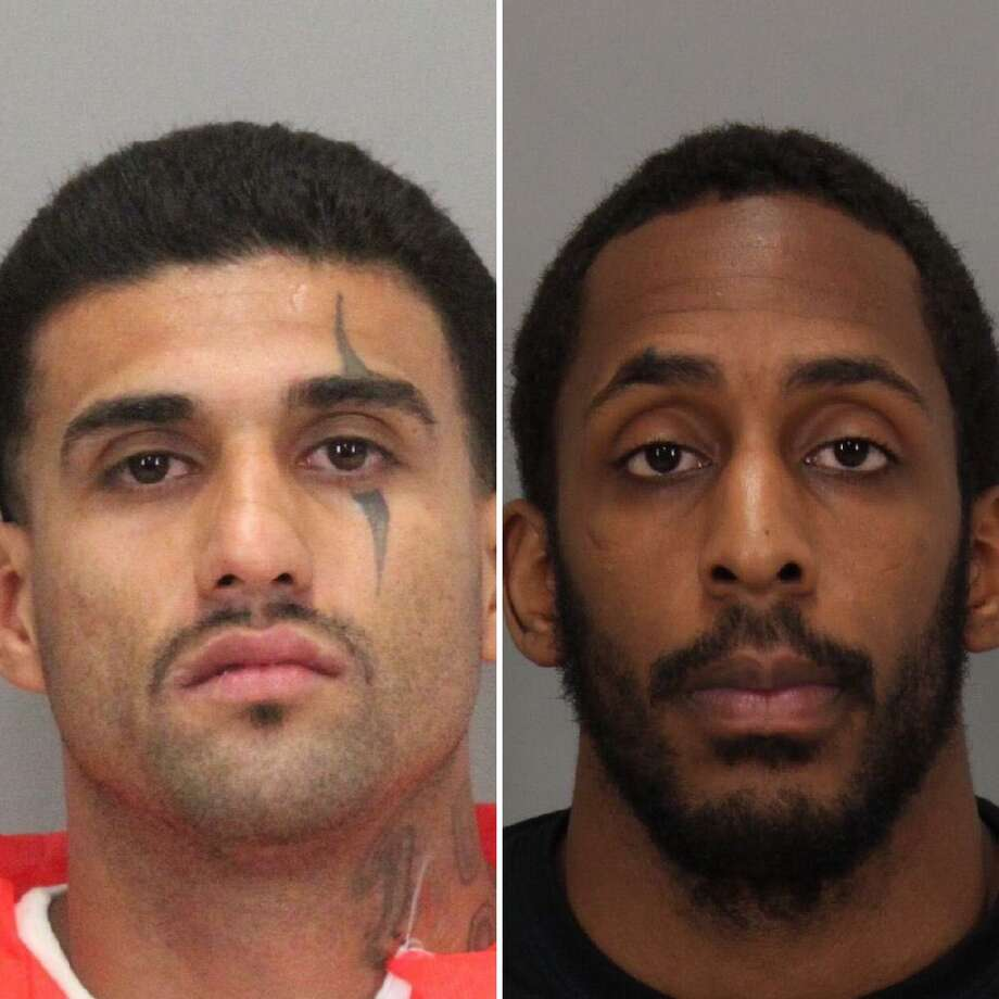 Rogelio Chavez (left) of San Jose, and Laron Campbell of Palo Alto remained on the run Friday after escaping Wednesday from the Santa Clara County Main Jail in San Jose. Photo: Santa Clara County Sheriff's Office / /