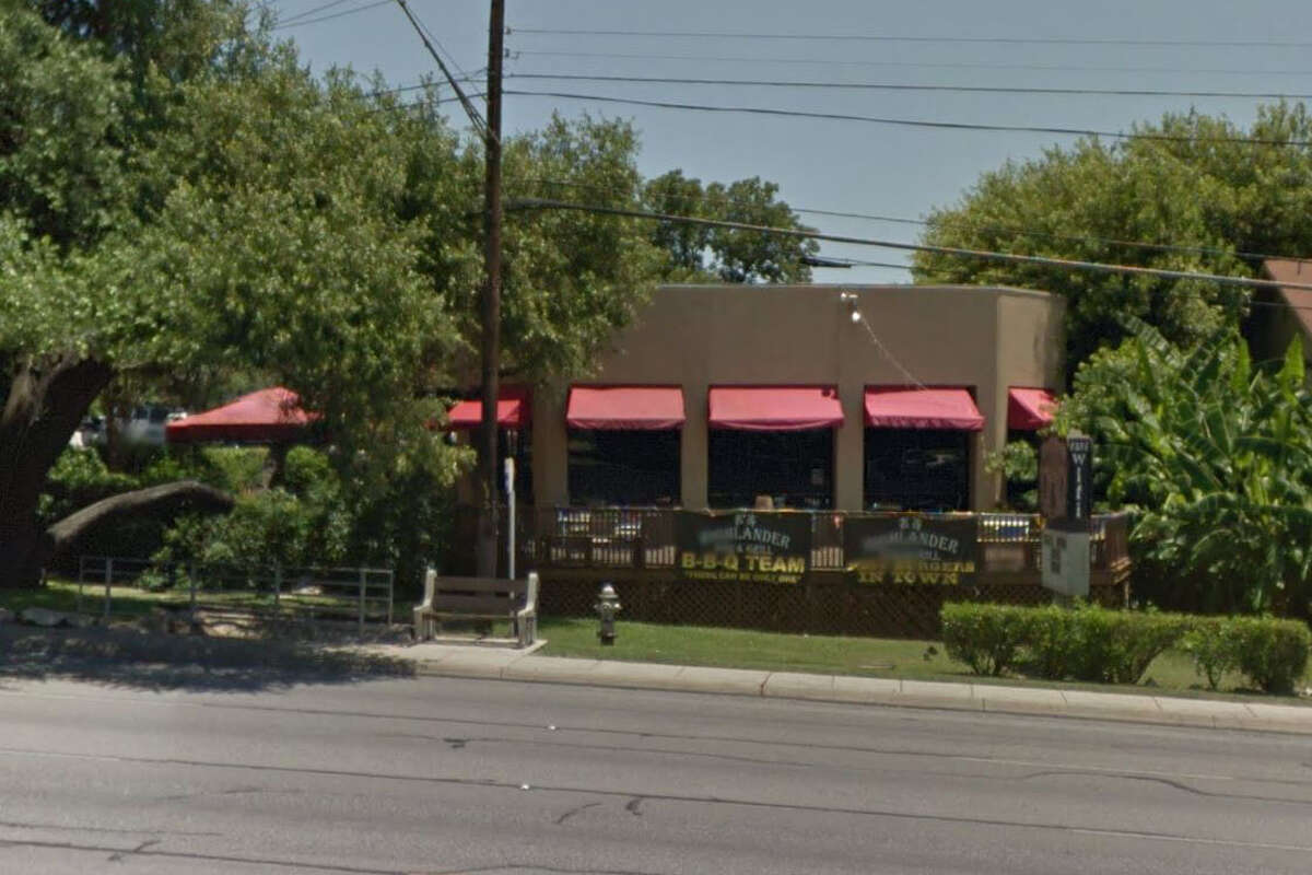 Highlander Bar & Grill: 5562 Fredericksburg Road, San Antonio, Texas 78229 Date: 11/22/2016 Score: 88 Highlights: Food not protected from cross contamination (frozen meat was placed above frozen breaded pickles), cleaning needed for utensils that are connected to the magnetic strip, food in the walk-in cooler must was stored on the floor, cleaning needed inside of refrigerators and in walk-in cooler.