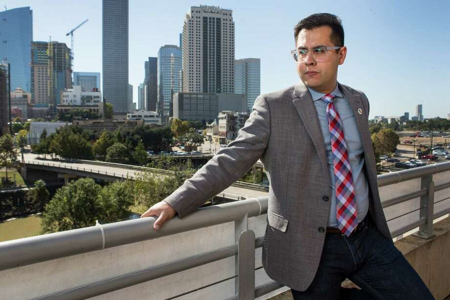 """Daniel Peña got the idea for """"Safe Home"""" when, while training to be a pilot, he learned about cartels flying drugs across the border. Photo: Brett Coomer, Staff / © 2016 Houston Chronicle"""