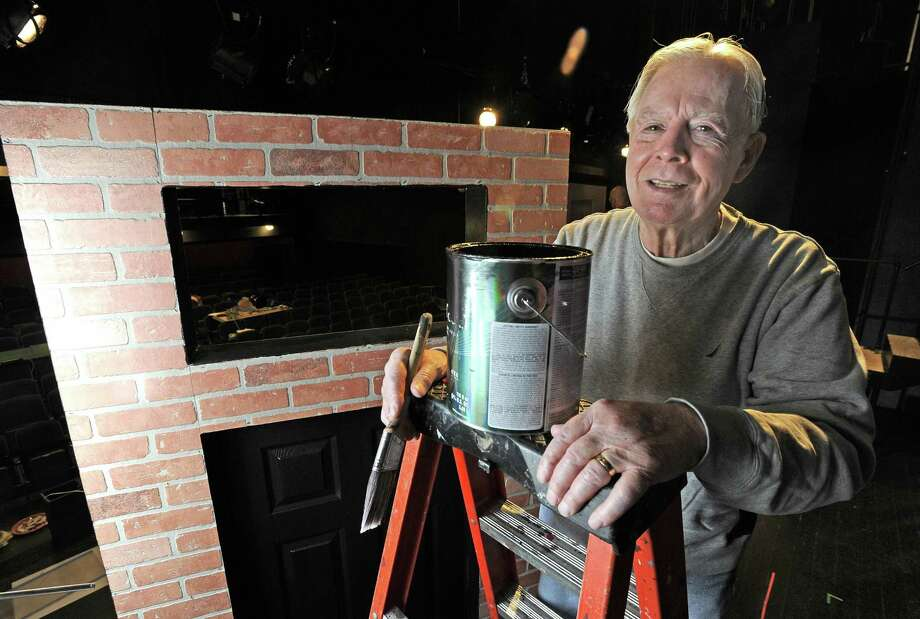 Curtain Call Volunteer Of The Year Tom Hadden, A Retired Stamford  Firefighter Helps To Paint