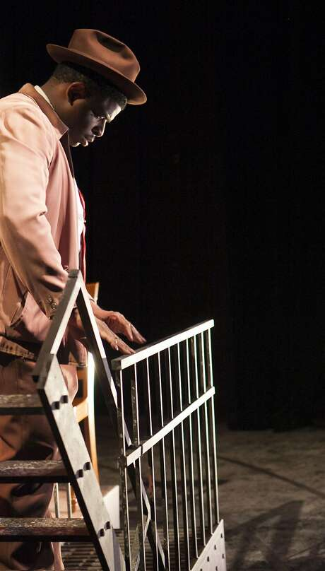 Khary L. Moye plays a man haunted by two deaths in the Word for Word production. Photo: Julie Schuchard, Word For Word At Z Space