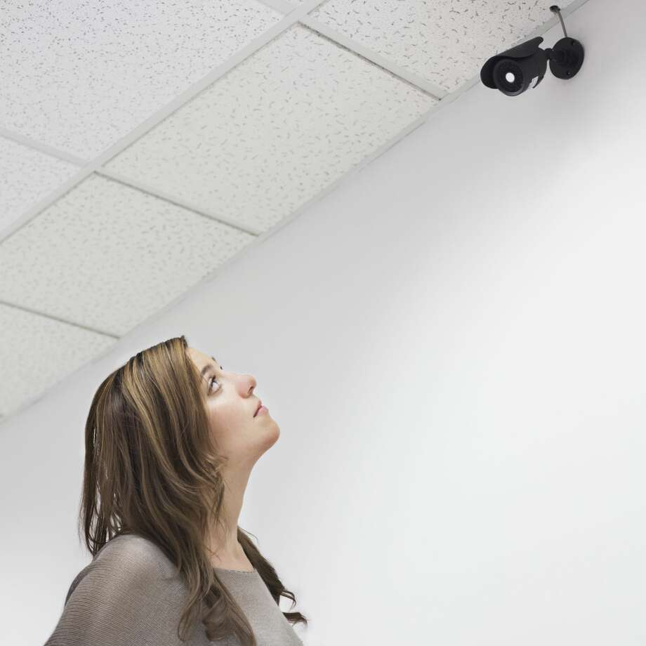1. Most companies can put video cameras up in the officeOttinger lawyers say that employers are typically allowed to put up video cameras around the office so long as they can justify them with business reasons, such as a concern for security.But don't worry too much, because the law firm says that many states  don't allow employers to put cameras up in either employee or customer  restrooms or changing rooms. In addition, employers are generally  prohibited from putting up cameras to keep an eye on specific employees. Photo: Jetta Productions/Getty Images/Blend Images