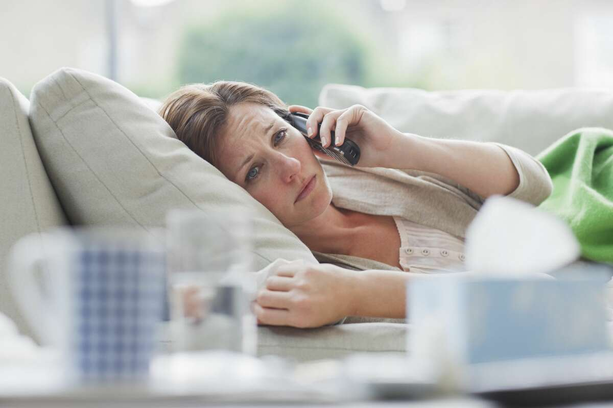 2. Most companies can phone you when you're sick Whether you're actually sick or just playing hooky, you probably don't want to hear from your boss. Unfortunately, in most states there's nothing prohibiting your employer from checking up on an employee who calls in sick - so long as the worker is physically able to answer the call.