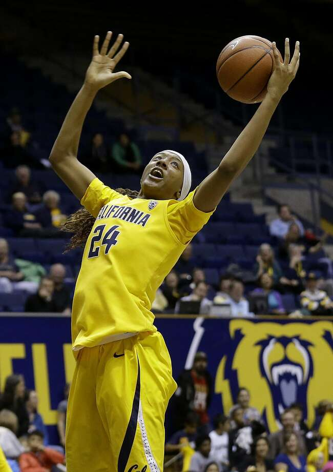California forward Courtney Range (24) grabs a rebound during the second half an NCAA college basketball game against Sacramento State in Berkeley, Calif., Wednesday, Dec. 3, 2014. (AP Photo/Jeff Chiu) Photo: Jeff Chiu, Associated Press