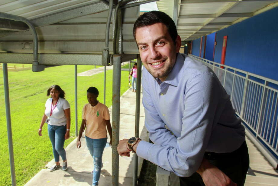 Adeeb Barqawi, president and CEO of ProUnitas. Barqawi, a former Kashmere High School teacher, founded the nonprofit to help connect students with social services, counseling food, clothes and other needs. Photo: Gary Fountain, Gary Fountain/For The Chronicle / Copyright 2016 Gary Fountain