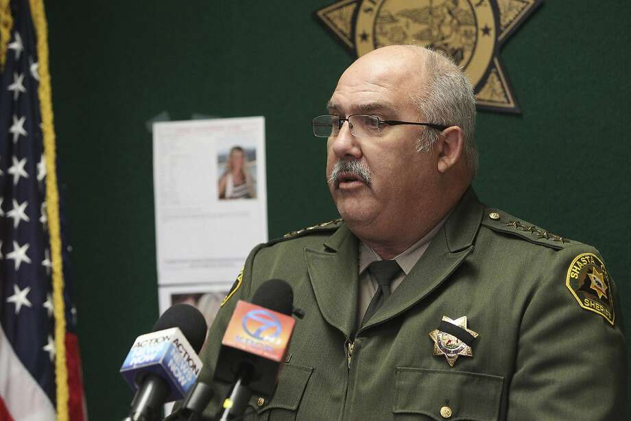 In this Thursday, Nov. 24, 2016 photo, Shasta County, Calif., Sheriff Tom Bosenko addresses the media during a press conference regarding a missing woman who was found, in Yolo County, Calif. Authorities were searching Thursday for two women suspected in the abduction of Sherri Papini a California mother who turned up safe near an interstate three weeks after she disappeared.  (Andreas Fuhrmann  /The Record Searchlight via AP) Photo: Andreas Fuhrmann, Associated Press