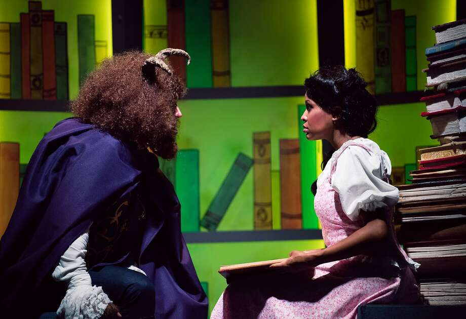 """A tale as old as time begins to work its magic on Belle (Janelle LaSalle) and the Beast (Tyler McKenna) in Berkeley Playhouse's """"Beauty and the Beast."""" Photo: Ben Krantz Studio, Berkeley Playhouse"""