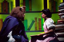A tale as old as time begins to work its magic on Belle (Janelle LaSalle) and the Beast (Tyler McKenna) in Berkeley Playhouse�s �Beauty and the Beast.�