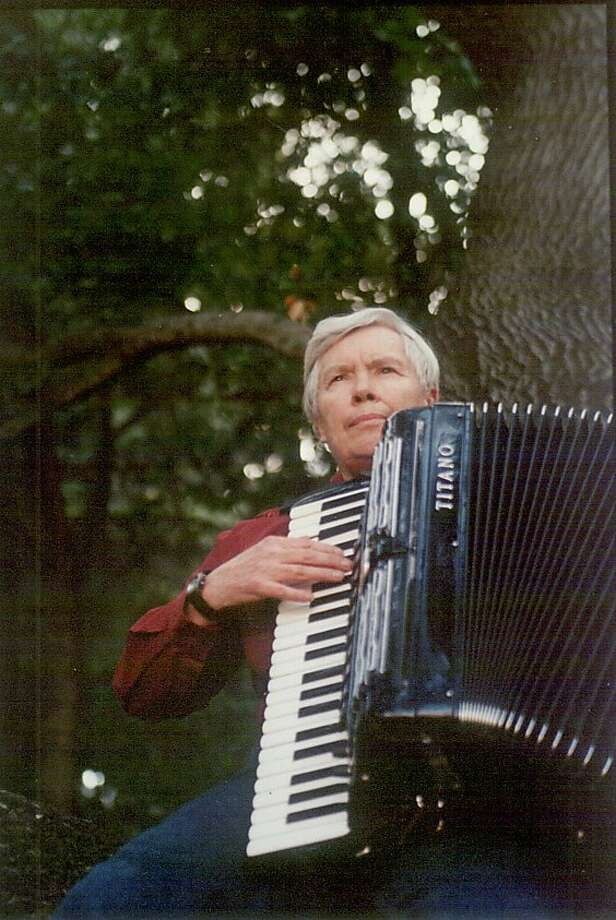 Pauline Oliveros, who prided herself on artistic elu siveness, took up the accordion as a child in Houston. Photo: HANDOUT, SFC