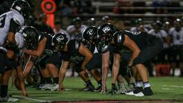Steele's offense lines up against Weslaco East in a Class 6A Division II third-round playoff game between at Buccaneer Stadium in Corpus Christi on Nov. 25, 2016.