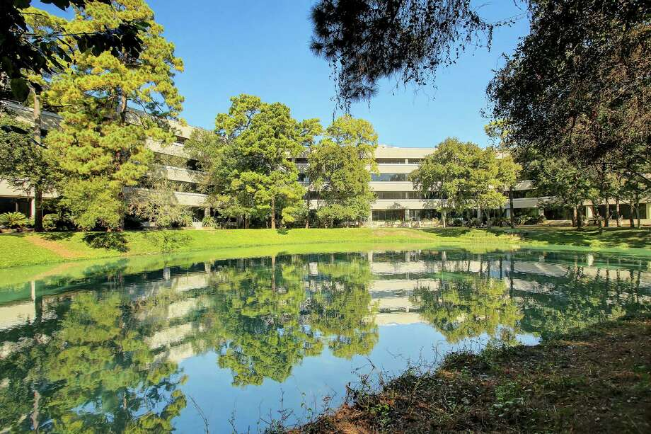 Republic Square's tenants have views of a central courtyard.The property, at 13501 Katy Freeway, borders Terry Hershey Park. Photo: Third Palm Capital