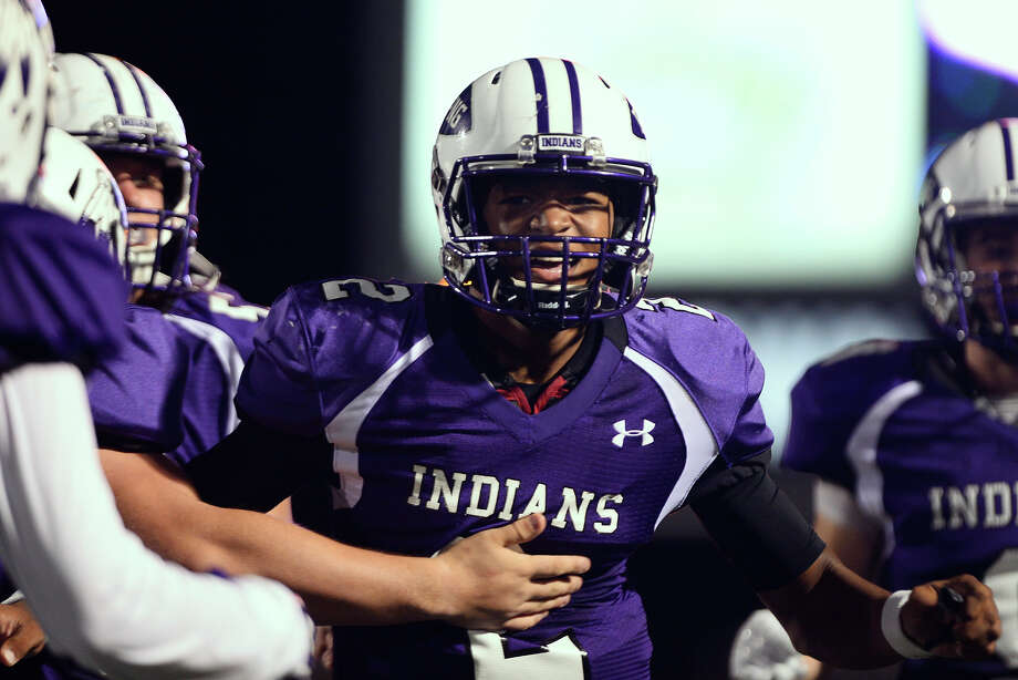 Port Neches-Groves quarterback Roschon Johnson celebrates after a touchdown run during the second quarter against College Station at Stallworth Stadium in Baytown on Friday night.  Photo taken Friday 11/25/16 Ryan Pelham/The Enterprise Photo: Ryan Pelham / ©2016 The Beaumont Enterprise/Ryan Pelham