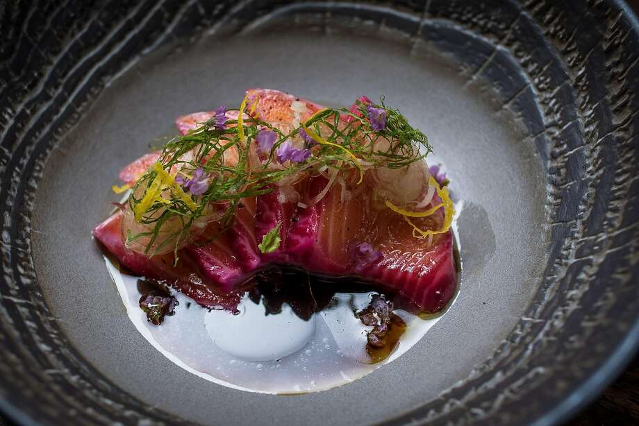 Marinated salmon belly at Nomica in S.F. Photo: John Storey, Special To The Chronicle