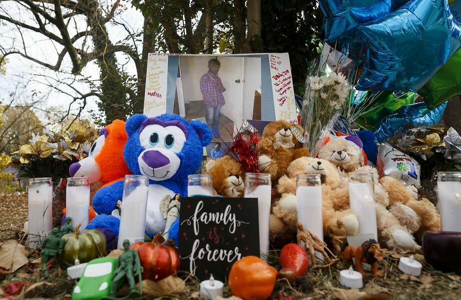 Teddy bears, balloons and other tributes are gathered in a memorial at the site of the bus crash in Chattanooga, Tenn., that killed six elementary school students Monday. Photo: Doug Strickland, Associated Press