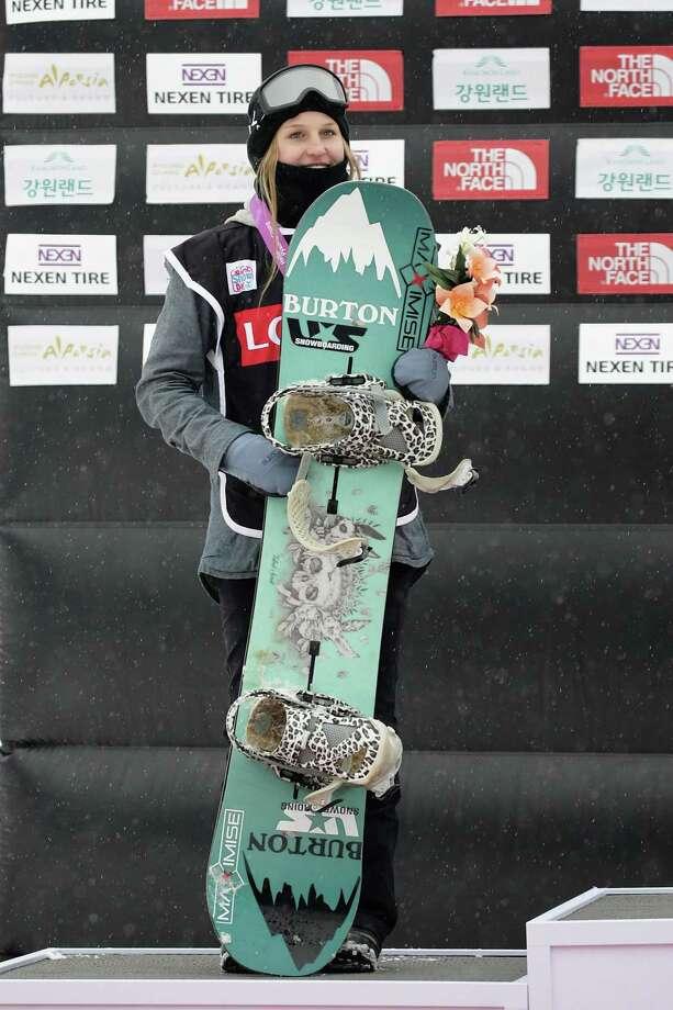 PYEONGCHANG-GUN, SOUTH KOREA - NOVEMBER 26:  Julia Marino of USA takes 2nd place during Ladies BA Finals the FIS Snowboard World Cup 2016/17 at Alpensia Ski Jumping Center on November 26, 2016 in Pyeongchang-gun, South Korea.  (Photo by Han Myung-Gu/Getty Images) Photo: Han Myung-Gu / Getty Images / 2016 Getty Images