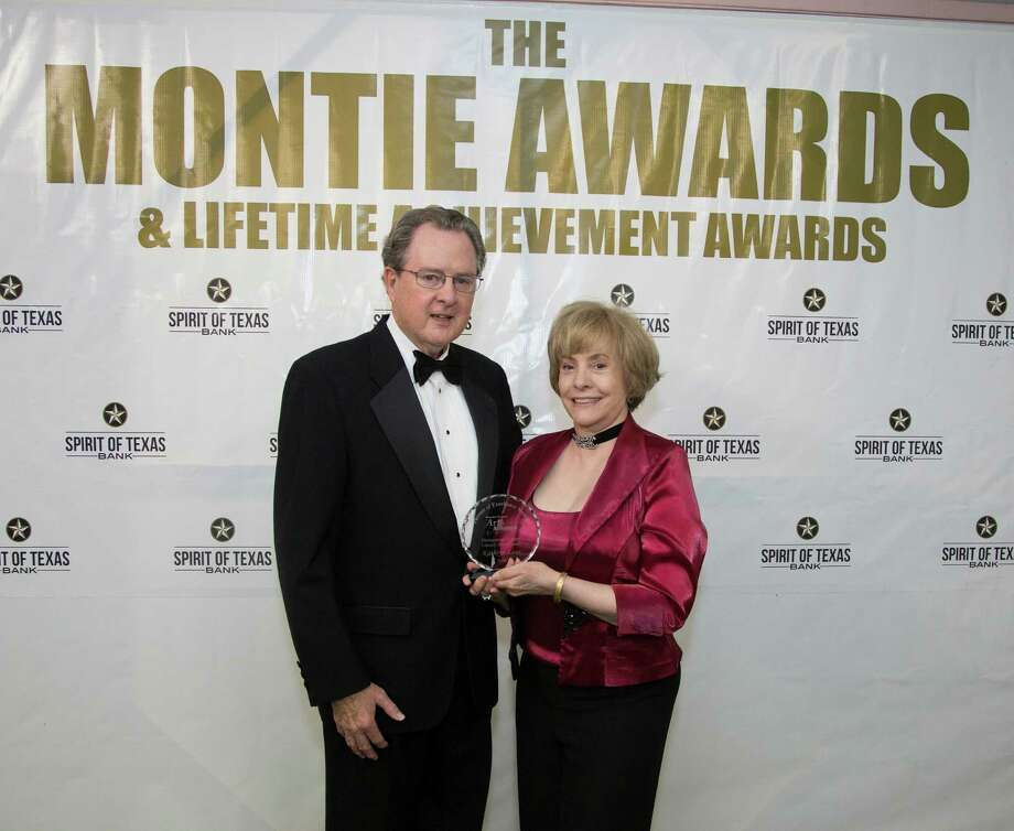 "Local author Kathryn Lane recently received the ""special deeds"" honor during the annual Montie Awards hosted by the Greater Conroe Arts Alliance. Photo: Submitted"