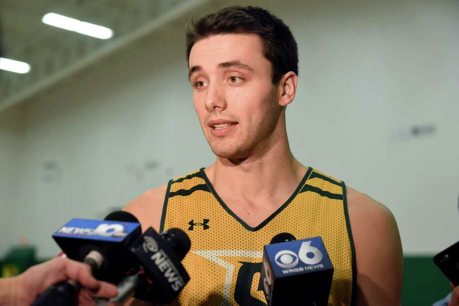 Siena's Brett Bisping talks with the media about Sunday's basketball game against crosstown rival UAlbany on Friday, Nov 25, 2016, at Siena College in Loudonville, N.Y. (Cindy Schultz / Times Union) Photo: Cindy Schultz / Albany Times Union