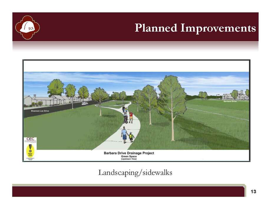 Rendering of landscaping and sidewalks Photo: Courtesy Illustration /