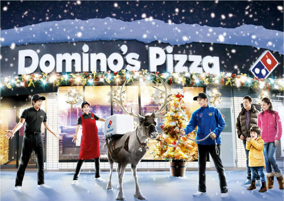 Domino's in Japan os hoping to roll out deliveries by reindeer in some area by December.>>KEEP CLICKING TO SEE NINE FACTS YOU PROBABLY DIDN'T KNOW ABOUT REINDEER.Photo: Domino's Japan Press Release
