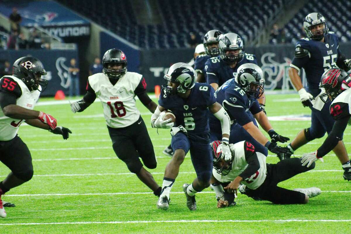 Cy-Ridge's Noah Smith (6) picks his way through the Clear Brook defense in the first half Saturday, Nov. 26 at NRG Stadium in Houston, Texas.