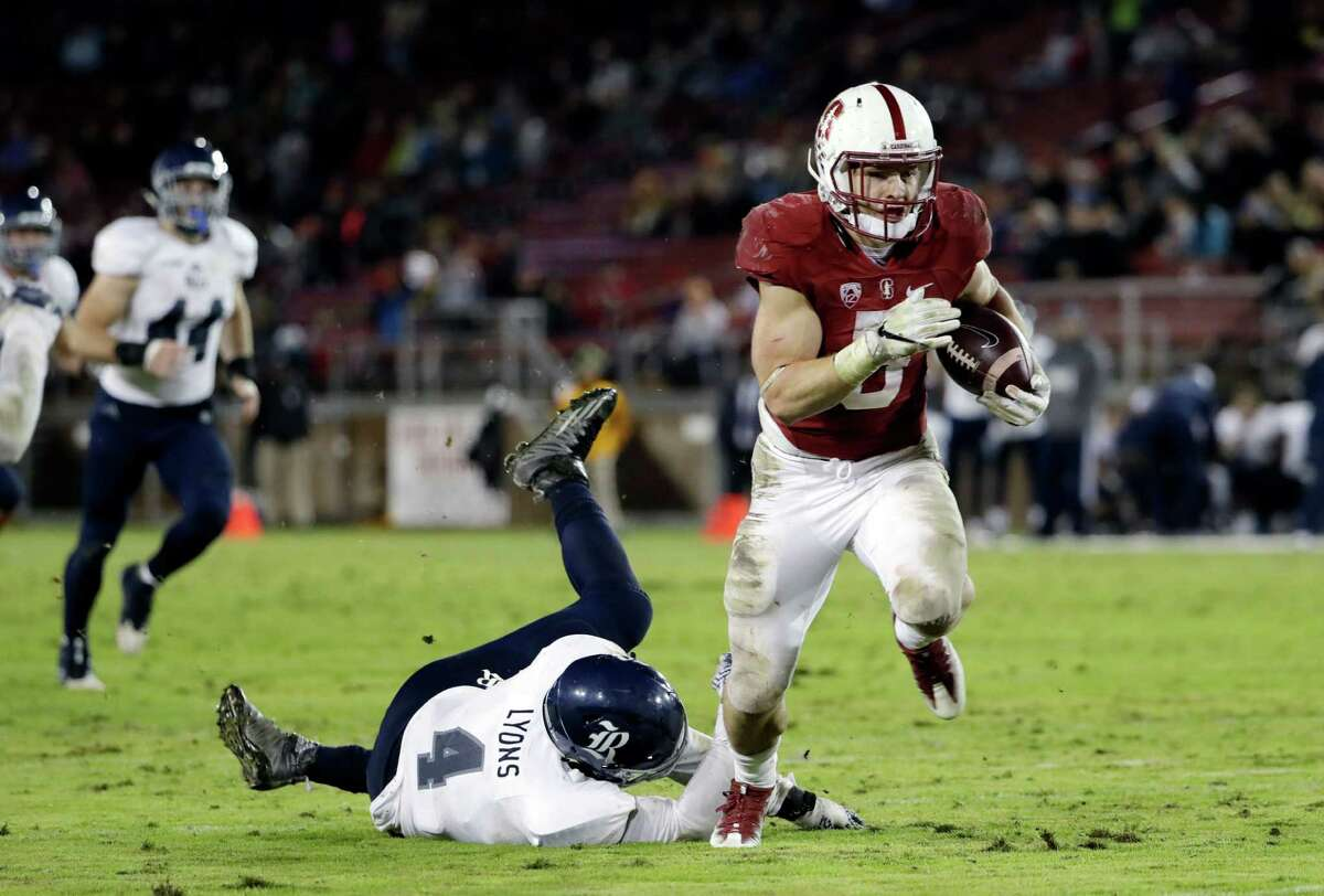 Christian McCaffrey, 5-11, 202, 4.48, Stanford As a sophomore, he had one of the greatest seasons in history, rushing for 2,019 yards and generating 276 all-purpose yards a game. Added 1,603 yards rushing as a junior and played with nagging injuries. An outstanding runner, receiver and returner. A lot of scouts are worried about the punishment he'll absorb if he runs inside too much. Sat out his bowl game and didn't do private workouts after impressing at the combine. Should be among the top-20 picks.