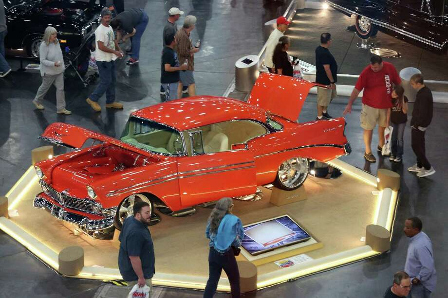 People look at a 1956 Chevy Belair 2 Door H/7 at 57th Annual Houston Autorama car show Saturday, Nov. 26, 2016, in Houston. Photo: Yi-Chin Lee, Houston Chronicle / © 2016  Houston Chronicle