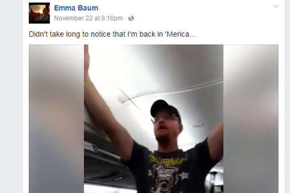 Trump supporter disrupts flight