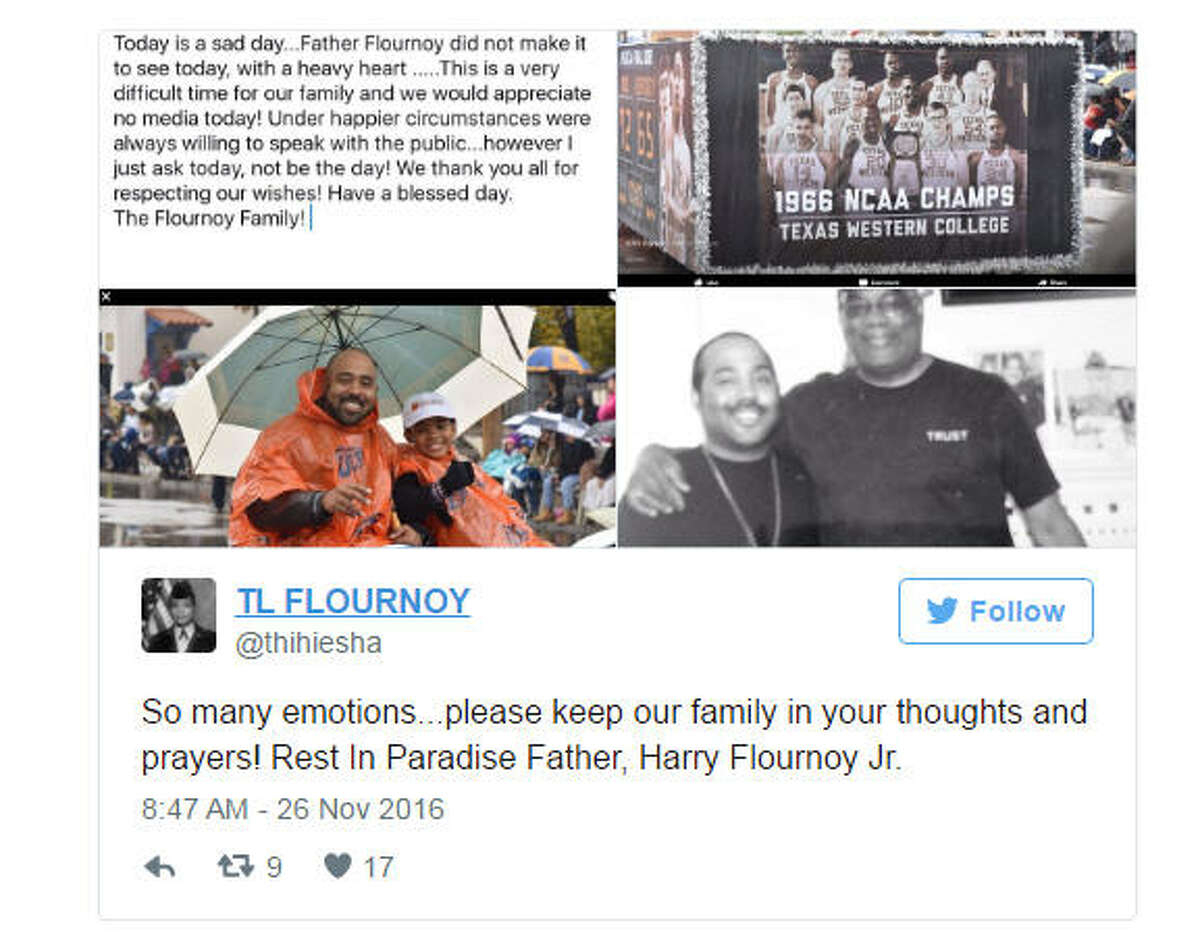 Emotional Family members shared photos of Harry Flournoy on Saturday, Nov. 26, 2016, hours after he died in Atlanta at age 72.