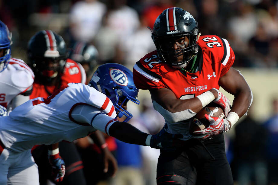 Westfield running back Daniel Young carries for a touchdown during the second quarter against West Brook in the 6A Div. II regional semifinal at Stallworth Stadium in Baytown on Saturday afternoon. Photo taken Saturday 11/26/16 Ryan Pelham/The Enterprise Photo: Ryan Pelham / ©2016 The Beaumont Enterprise/Ryan Pelham