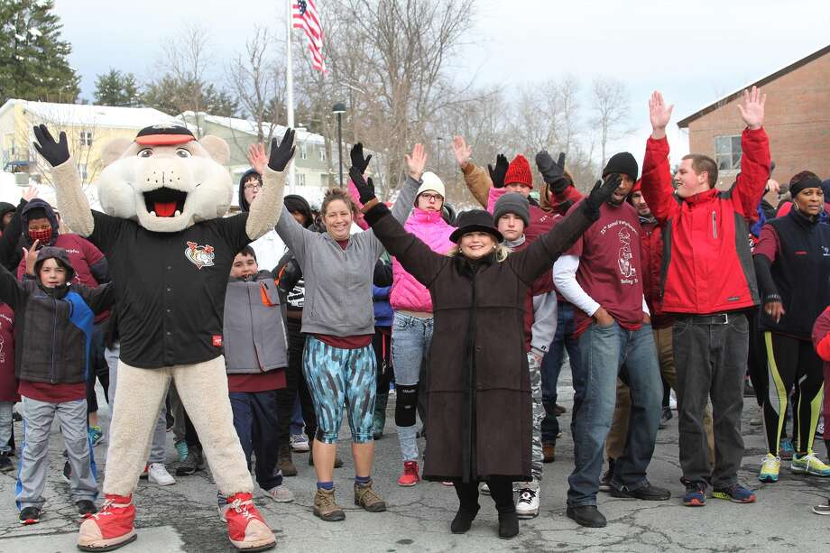 The 35th annual Vanderheyden Turkey Trot stepped off Nov. 22 at the Wynantskill campus.  About 150 of individuals, team members and their families participated in the fun run, jog and walk on Route 355. The Tri-City ValleyCats mascot SouthPaw was on hand to cheer everyone on. (Submitted photo) Photo: Jennifer Austin Photography