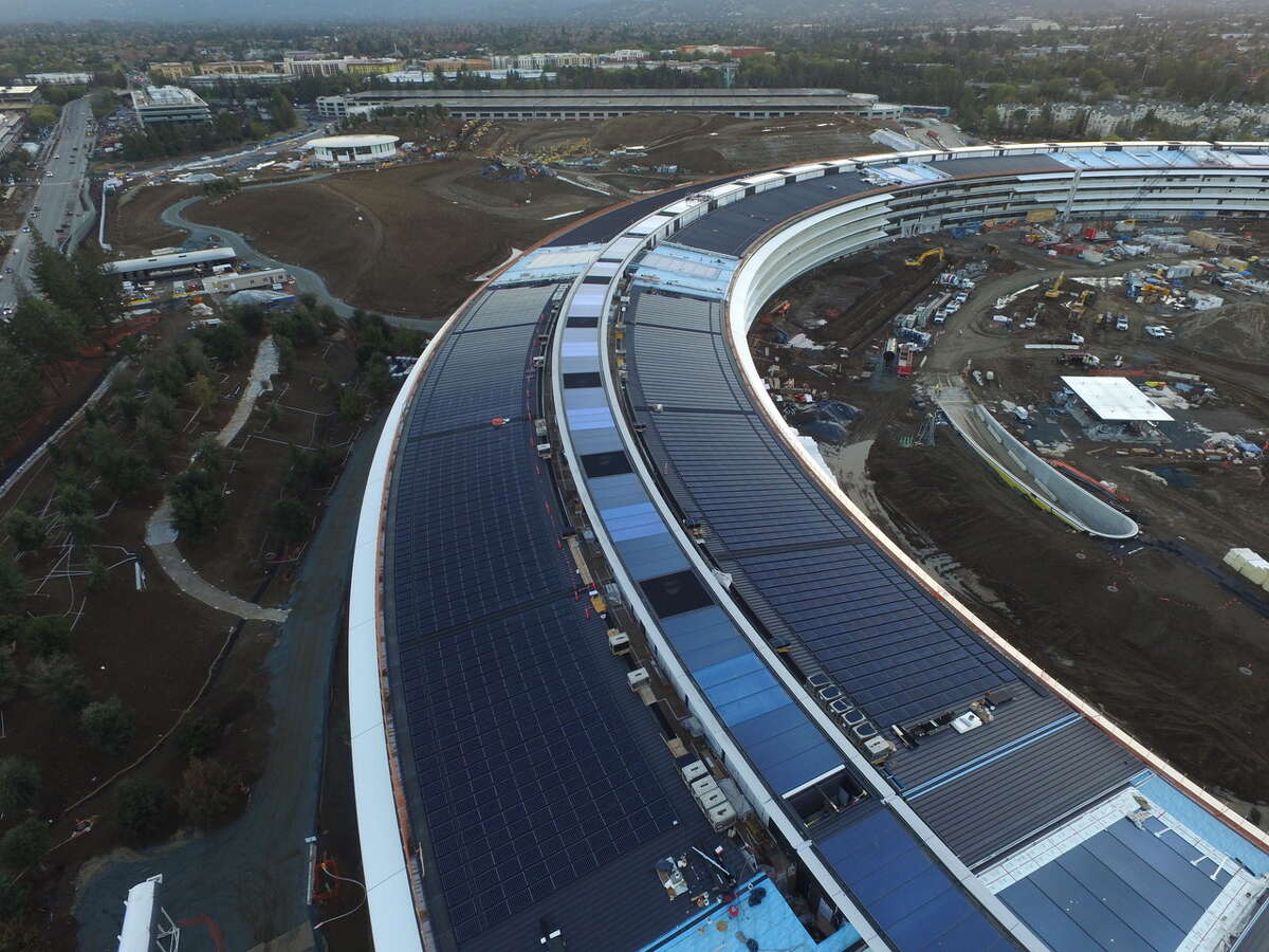 Drone footage of Apple Campus 2 in Cupertino shows the latest developments in construction of the new, $5 billion property.