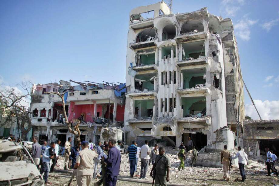 Somalia's Islamic extremist rebels, al-Shabab, stormed the Ambassador Hotel in Mogadishu in June, killing at least 15 people. Photo: Farah Abdi Warsameh, STR / Copyright 2016 The Associated Press. All rights reserved. This material may not be published, broadcast, rewritten or redistribu