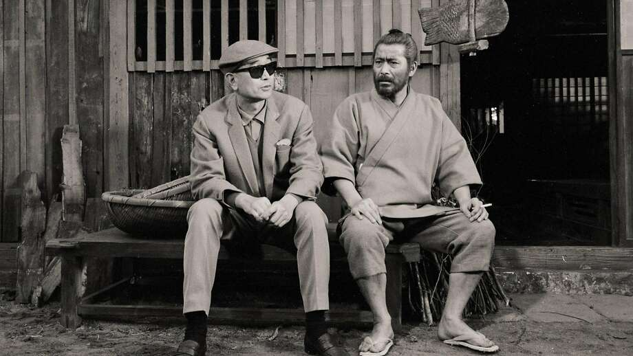 "Mifune (right) and director Akira Kurosawa, his frequent collaborator, on the set of ""Red Beard"" (1965), as seen in ""Mifune: The Last Samurai."" Photo: Strand Releasing"