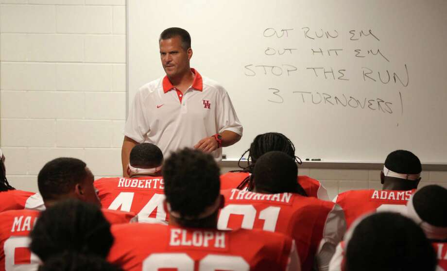 The University of Houston returned to football practice Thursday, five days after head coach Tom Herman abruptly stepped down to become the new coach at Texas.