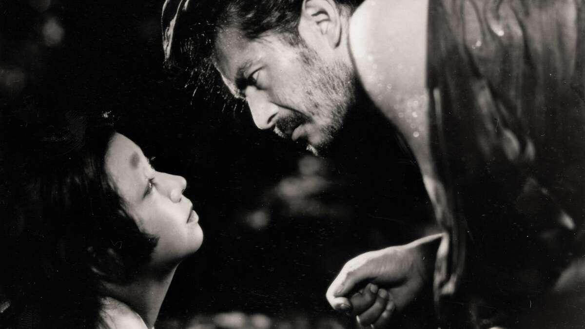 Actor Toshiro Mifune (left) in Akira Kurosawa's