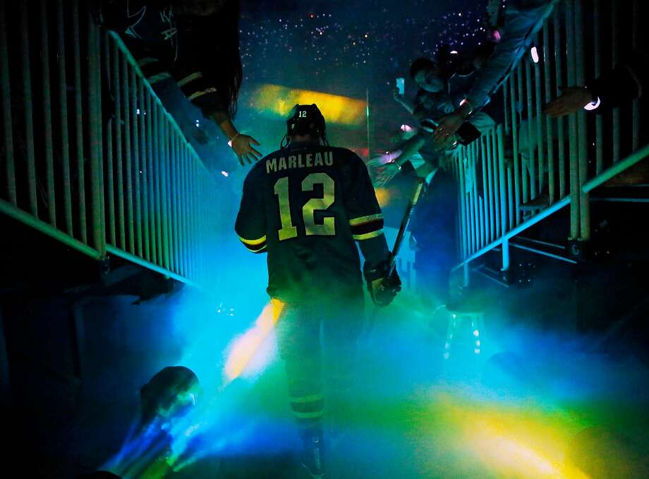 Sharks mainstay Patrick Marleau has signed a three-year deal with the Toronto Maple Leafs. Photo: Scott Strazzante, The Chronicle